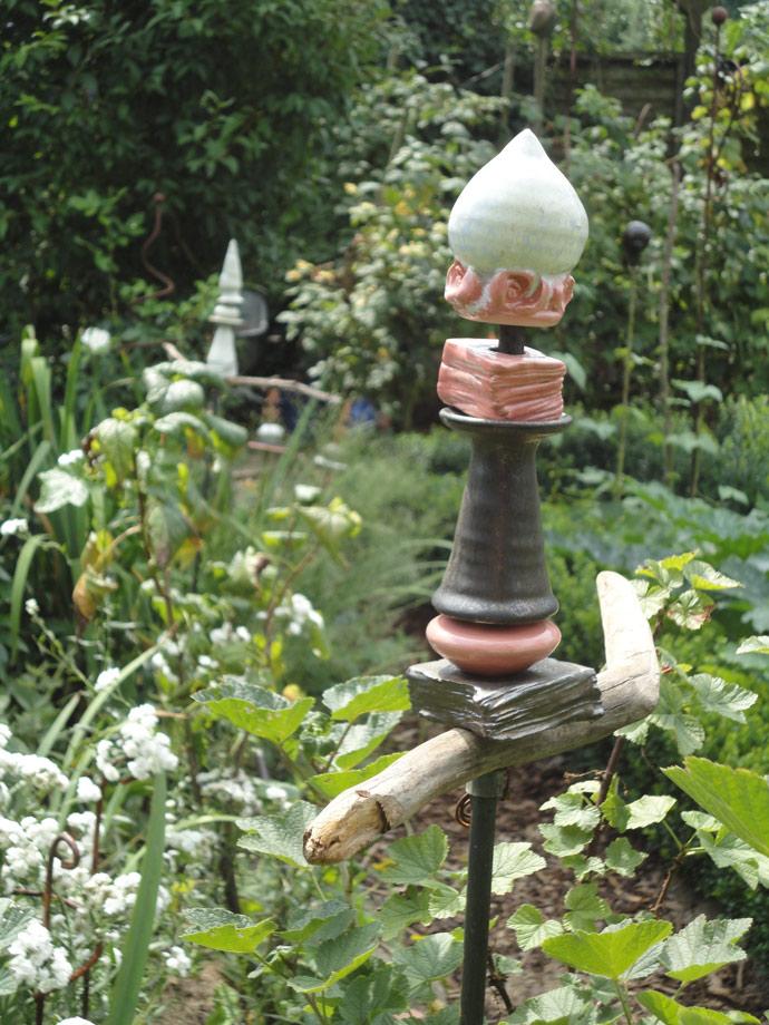 Gartensäule - Brigitte Lang Keramik Atelier