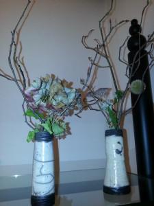 2 Vases en raku de Brigitte Lang à Rauenberg