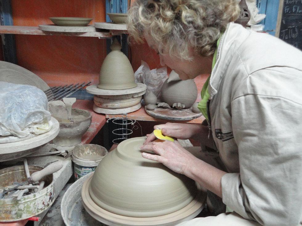 tournage d'un pot