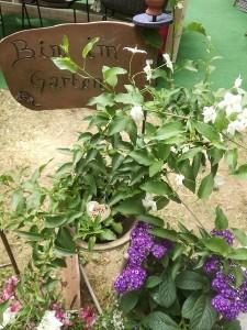 """Keramik-Schild """"Bin im Garten"""""""