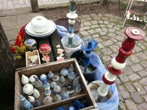 Marché de jardin de Edenkoben - mes pointes en céramiques et quelques fontaines