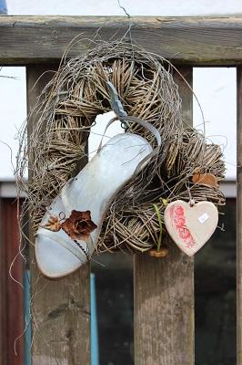 céramique de jardin - coeur en céramique