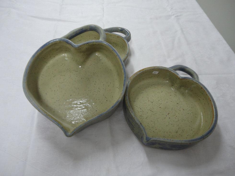 plats en forme de coeur - céramique