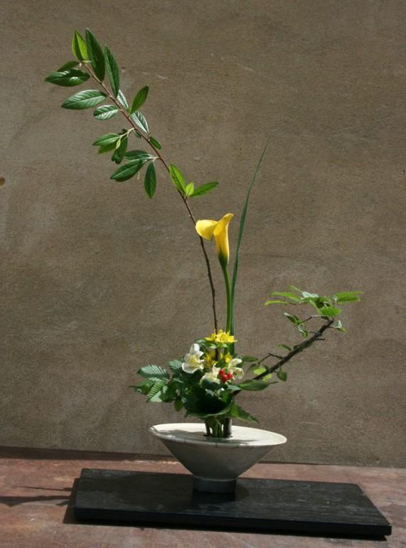 Ikebana Keramik Raku von Brigitte Lang