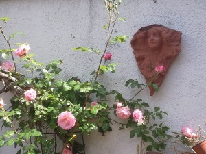 Jugenstil-Kopf aus Keramik - Brigitte Lang aus Rauenberg