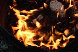 cuisson au raku - le feu