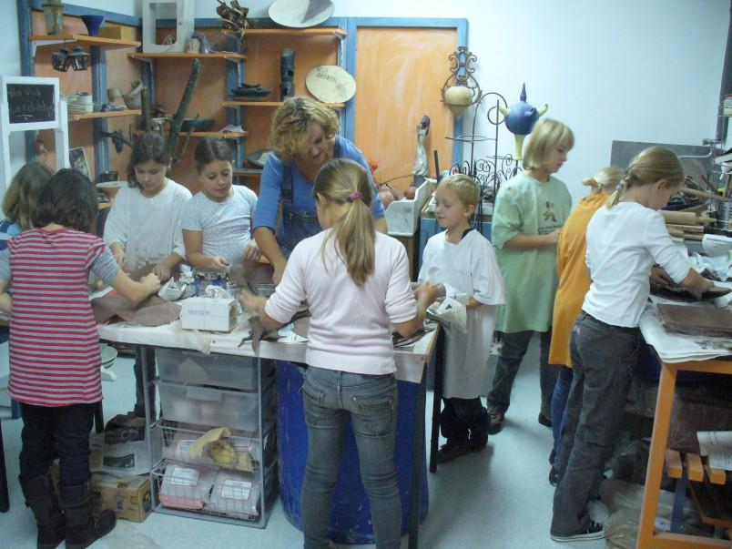 Töpferkurse in der Werkstatt von Brigitte Lang in Rauenberg