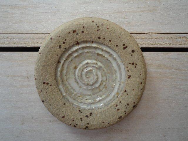 Türknauf - Flach mit Spirale - Natur und Perlmut