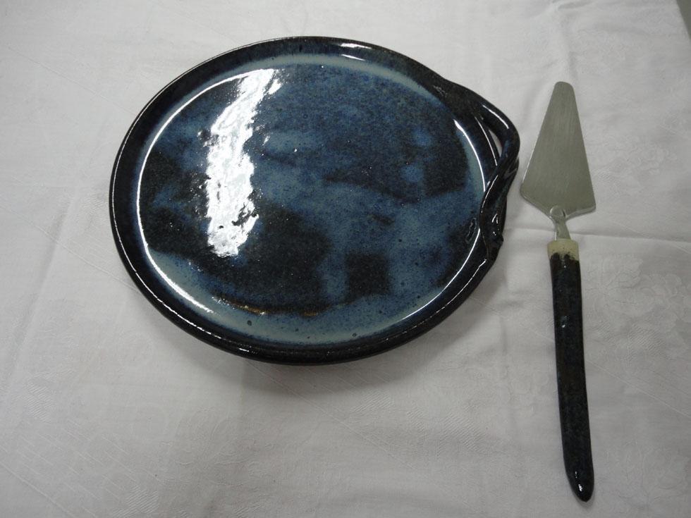 Kuchenplatte mit Schaufel