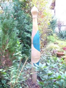 Garten Säule Türkis gelb