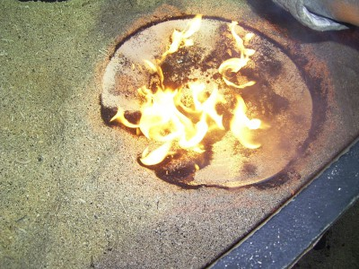 Keramik Raku Feuer Schale