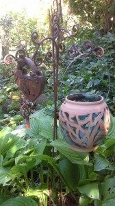 Windlicht türkis Keramik