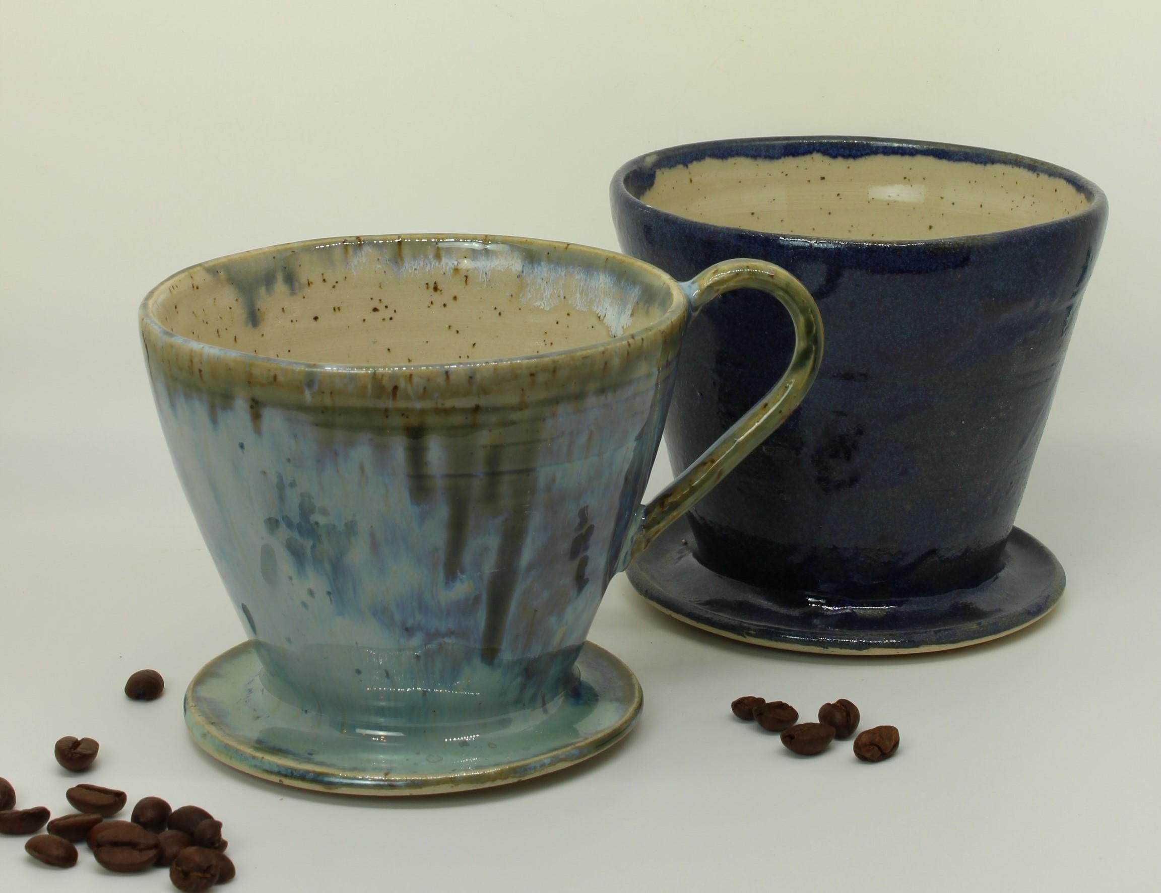 kaffeefilter - hellblau-dunkelblau