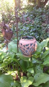 Windlicht Keramik für den Garten von Brigitte Lang in Rauenberg