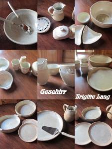 Chalet Les Lupinsà Chamonix - vaisselle de Brigitte Lang à Rauenberg - Collage