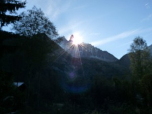 Sonnenaufgang Mont-Blanc Chamonix Chalet Les Lupins -