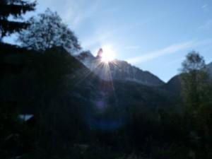 lever de soleil - Chalet Chamonix Les Lupins