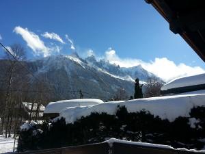 Chalet Les Lupins Chamonix Mont-Blanc  nuage sur le Mont-Blanc