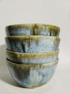 4 Bowls grün-blau von Keramik-Atelier Brigitte Lang in Rauenberg