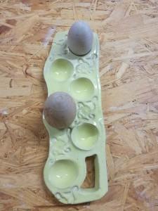 6er Eierschale gelb von Keramik-Atelier Brigitte Lang in Rauenberg