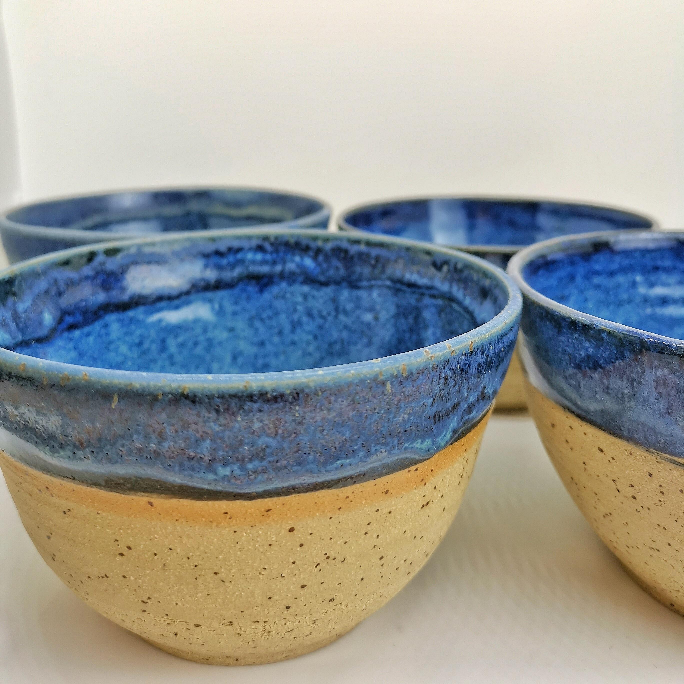 Bowls blau Natur von Keramik-Atelier Brigitte Lang in Rauenberg