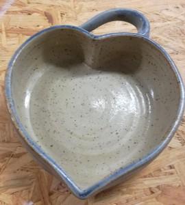 Herzbackform blau von Keramik-Atelier Brigitte Lang in Rauenberg
