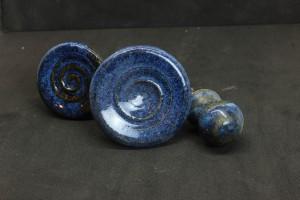 Knauf blau von Keramik-Atelier Brigitte Lang in Rauenberg