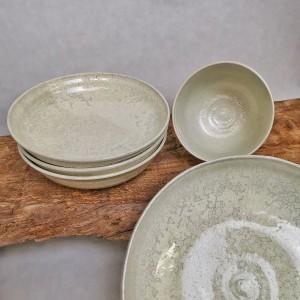 Suppenteller mit Bowl Perlmutt von Keramik-Atelier Brigitte Lang in Rauenberg
