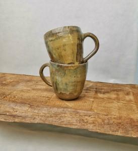 Tasse braun beige von Keramik-Atelier Brigitte Lang in Rauenberg