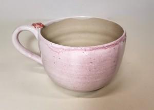Tasse rosa Rose von Keramik-Atelier Brigitte Lang in Rauenberg