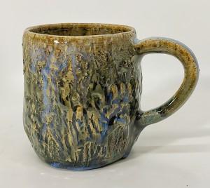 Wiesen-Tasse blau von Keramik-Atelier Brigitte Lang in Rauenberg